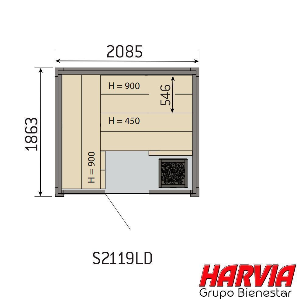 Harvia Solide S2119LD