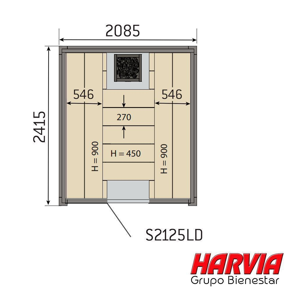 Harvia Solide S2125LD